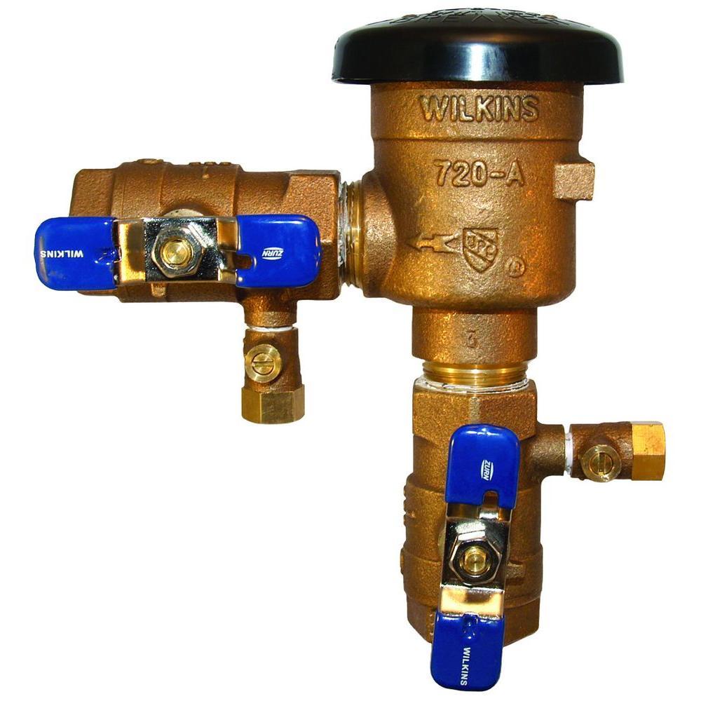 Zurn 3/4 in. Brass FIP x FIP Pressure Vacuum Breaker Back...