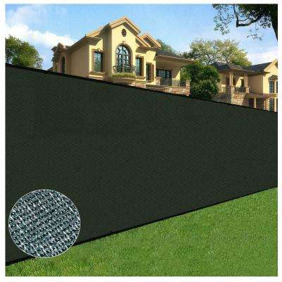 6 ft. x 50 ft. Black Privacy Fence Screen Netting Mesh with Reinforced Eyelets for Chain link Garden Fence