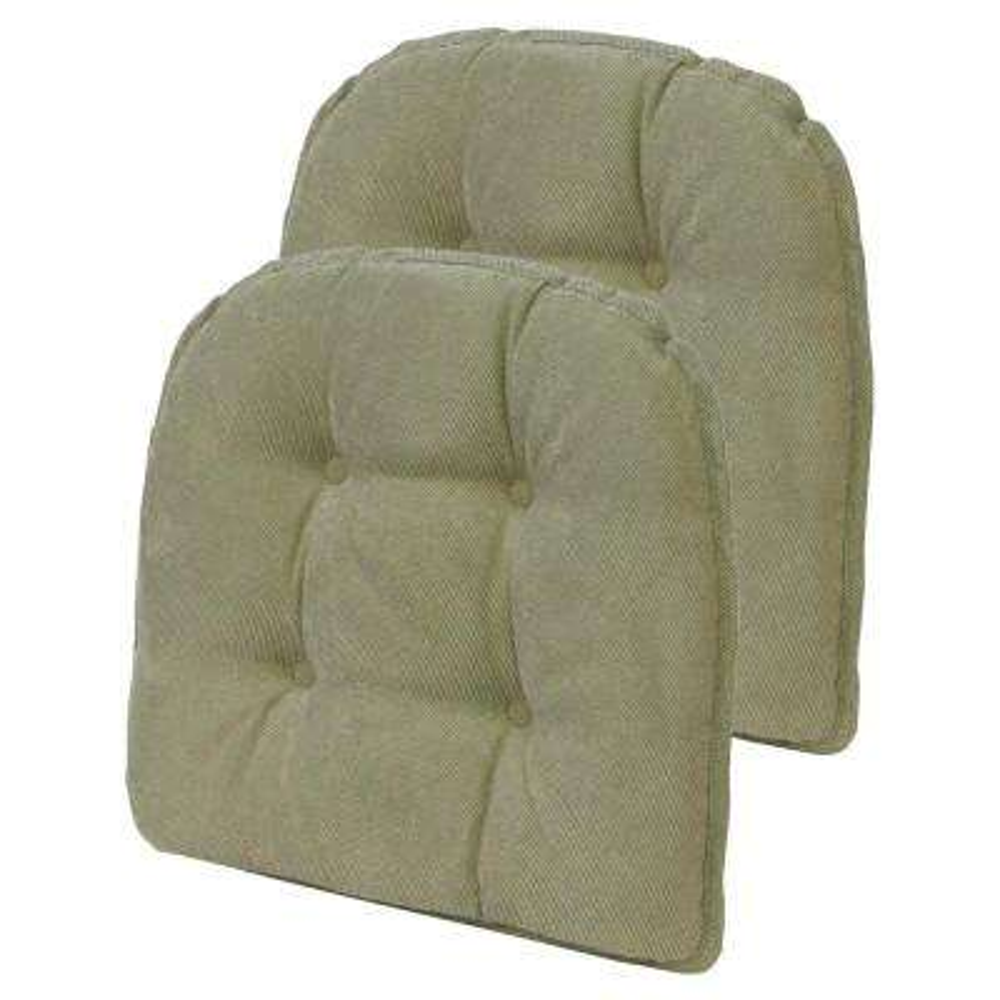 Gripper Non Slip Twillo Thyme Tufted Chair Cushions