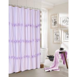 Rosette 72 inch Lilac Shower Curtain