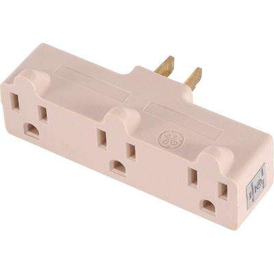 15 Amp 125-Volt AC 3-Outlet Heavy Duty Adapter, Ivory