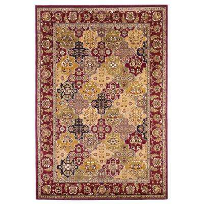 Celina Red 8 ft. Round Area Rug