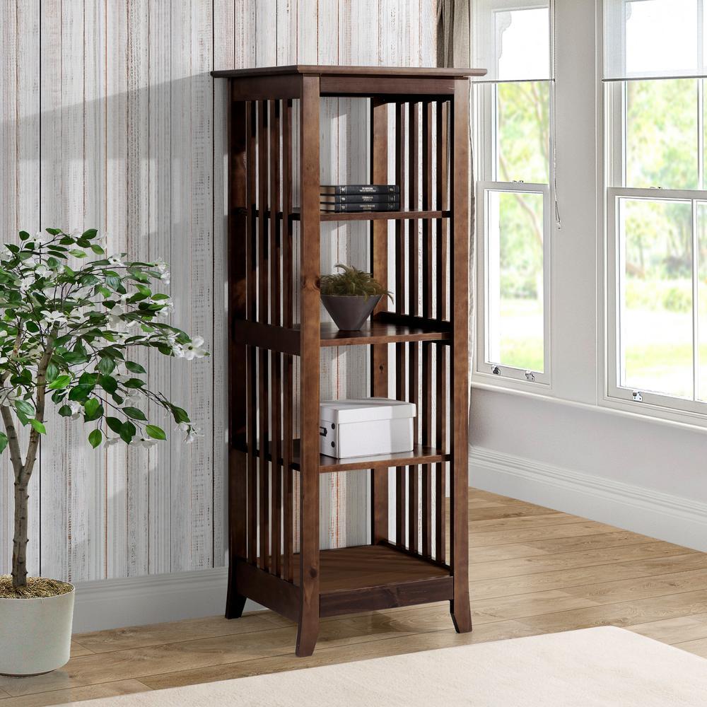 Linon Kendall Warm Cappuccino Wood Single Bookcase