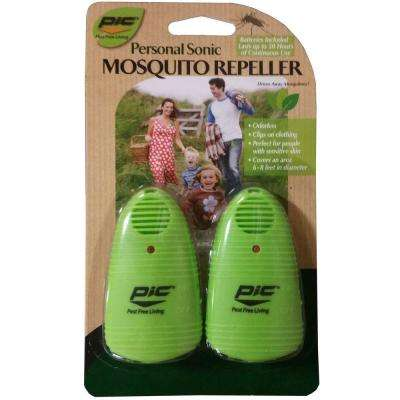 Personal Sonic Mosquito Repellent (2-Pack)