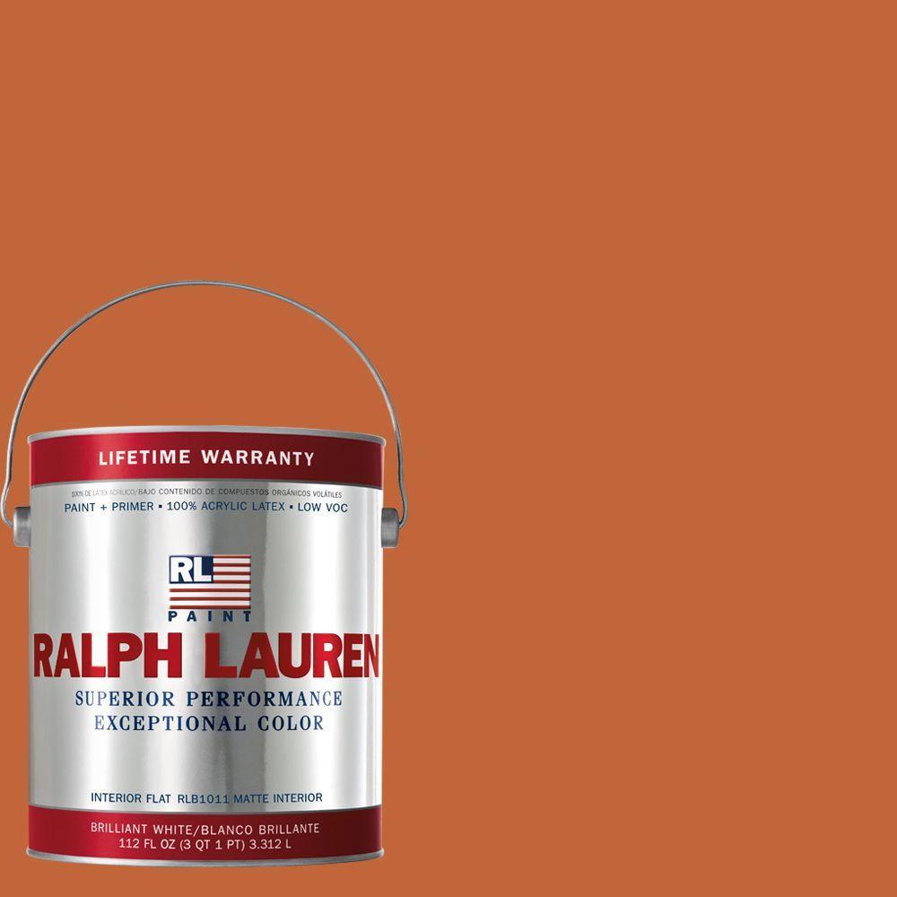Ralph Lauren 1-gal. Varsity Orange Flat Interior Paint