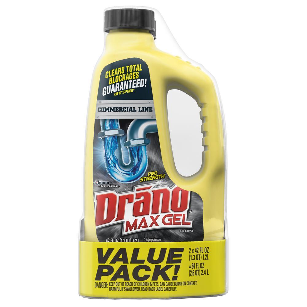 Drano Max Gel 42 Fl Oz Clog Remover 2 Pack 697733