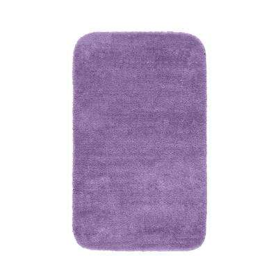 Traditional Purple 30 in. x 50 in. Washable Bathroom Accent Rug