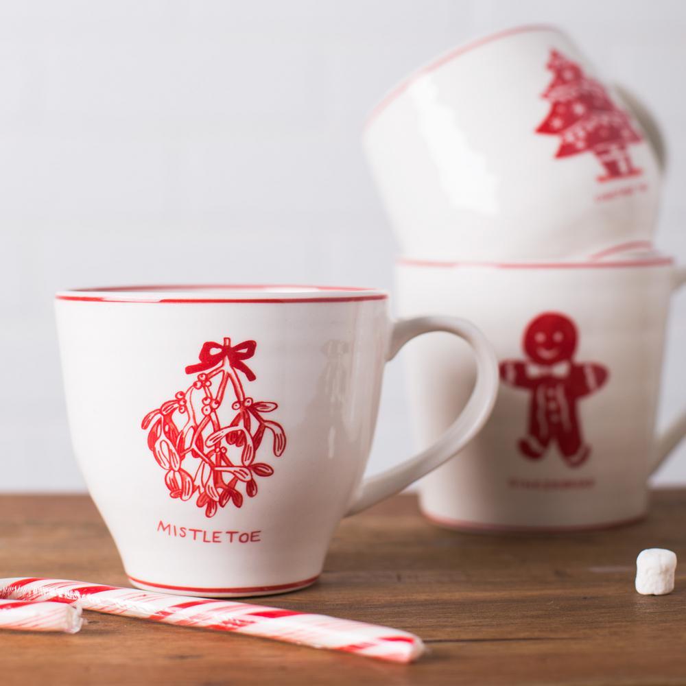 16 oz. Mistletoe Mug