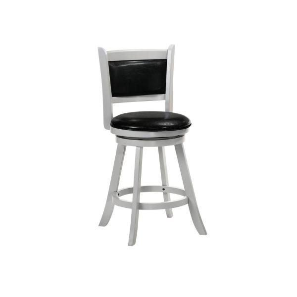Belle Isle Furniture Charleston 24 in. Gray Black Vinyl Swivel Bar
