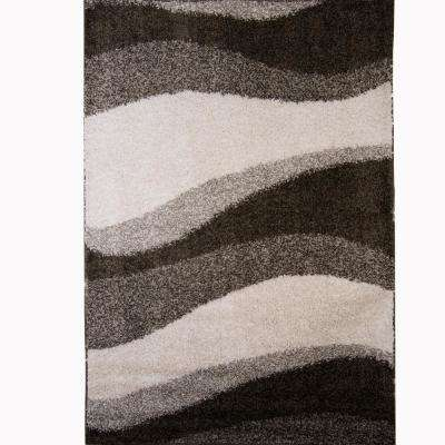 Synergy Gray/White 9 ft. x 12 ft. Indoor Area Rug