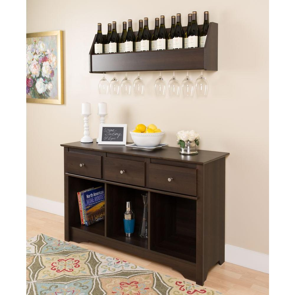 prepac fremont espresso storage console table elc 4830 k the home depot. Black Bedroom Furniture Sets. Home Design Ideas