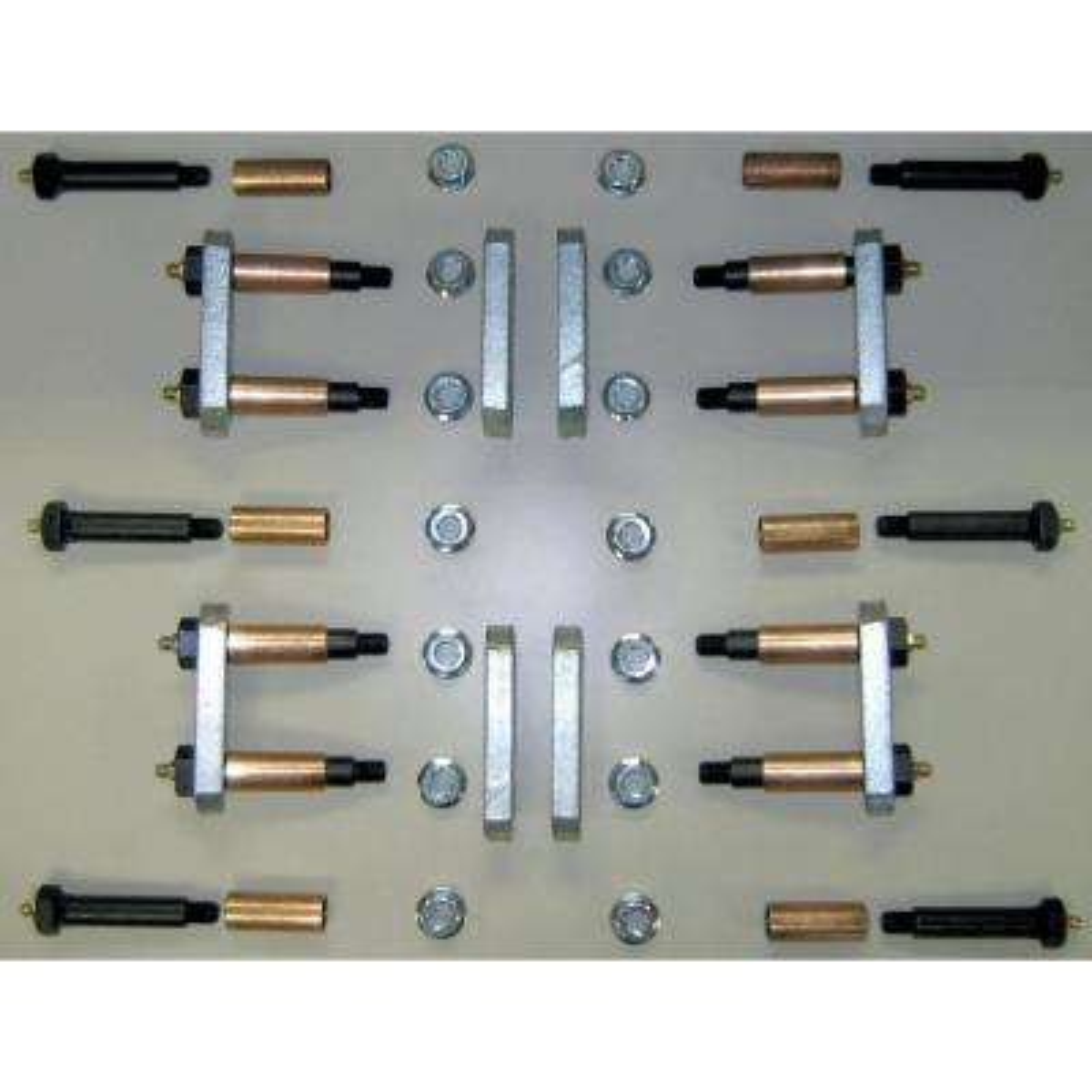 Heavy-Duty Shackle Upgrade Kit, Stock/Equaflex Shackles Triple Axle