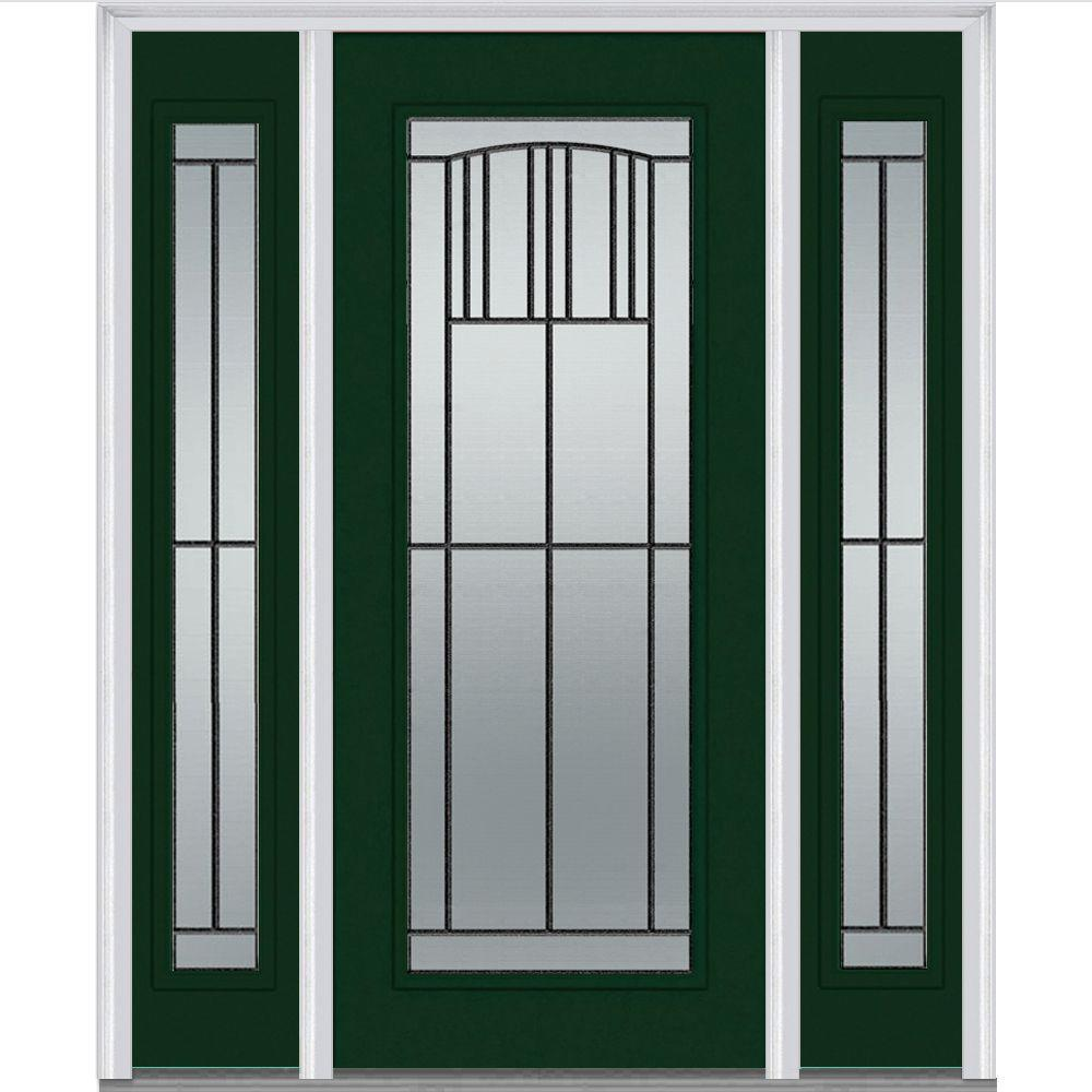 MMI Door 60 in. x 80 in. Madison Left-Hand Full Lite Classic Primed Fiberglass Smooth Prehung Front Door with Sidelites-Z007387L - The Home Depot  sc 1 st  The Home Depot & MMI Door 60 in. x 80 in. Madison Left-Hand Full Lite Classic ... pezcame.com