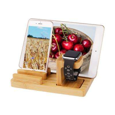 Bamboo 4-Port Charging Stand