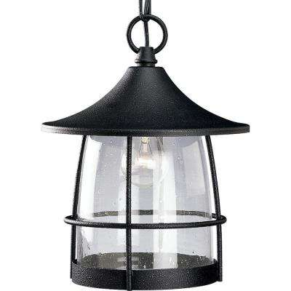Prairie Collection Gilded Iron Outdoor Hanging Lantern