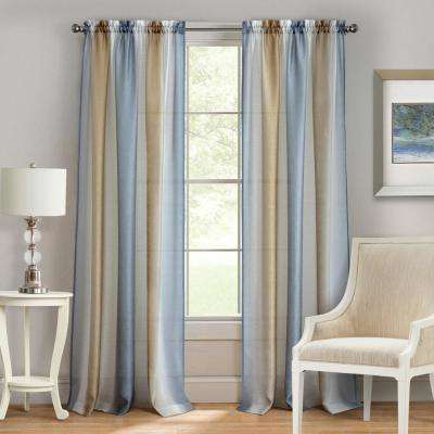 Spectrum Silver/Gold Rod Pocket Curtain - 50 in. W x 63 in. L