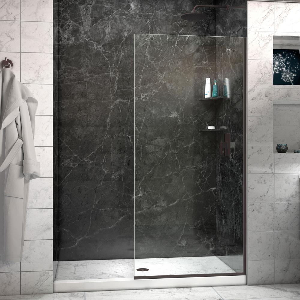32 Shower Door Part - 41: Semi-Frameless Fixed Shower Door In Oil