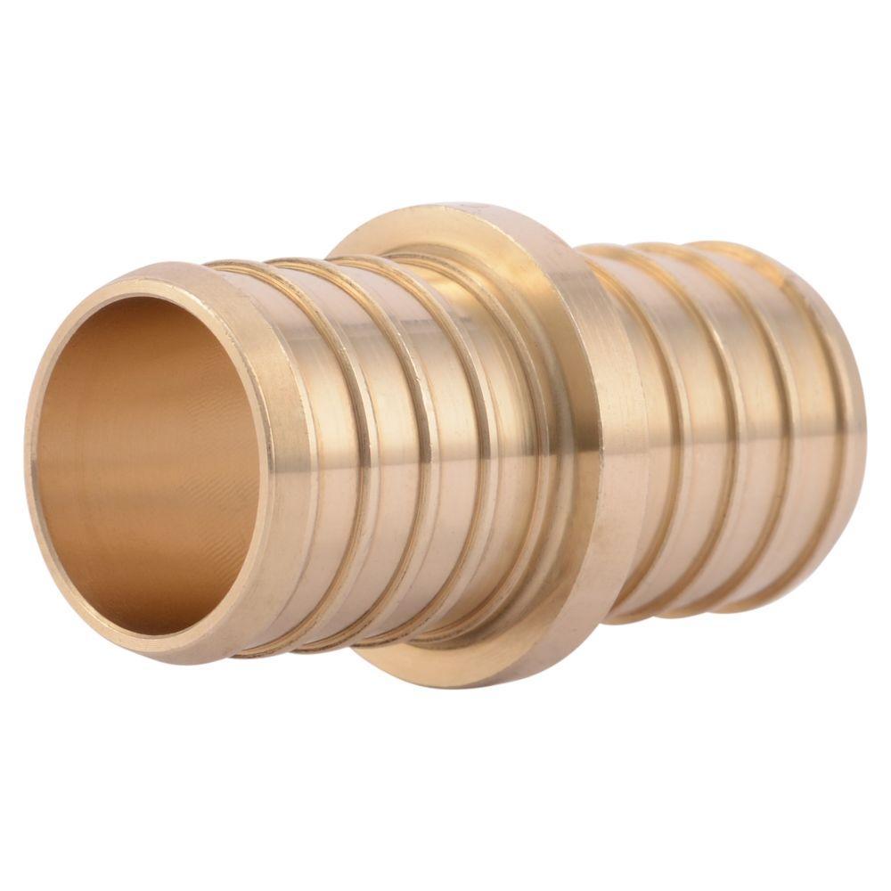 Sharkbite 1 in brass pex barb coupling uc020lfa the for Pex drain pipe