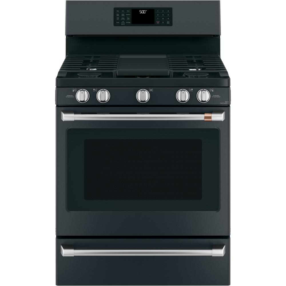 30 in. 5.6 cu. ft. Gas Range with Steam-Cleaning Convection Oven