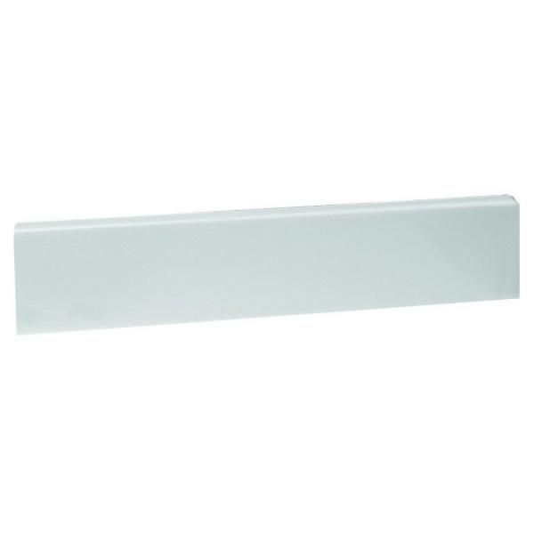 18-3/8 in. Cultured Marble Universal Sidesplash in Solid White