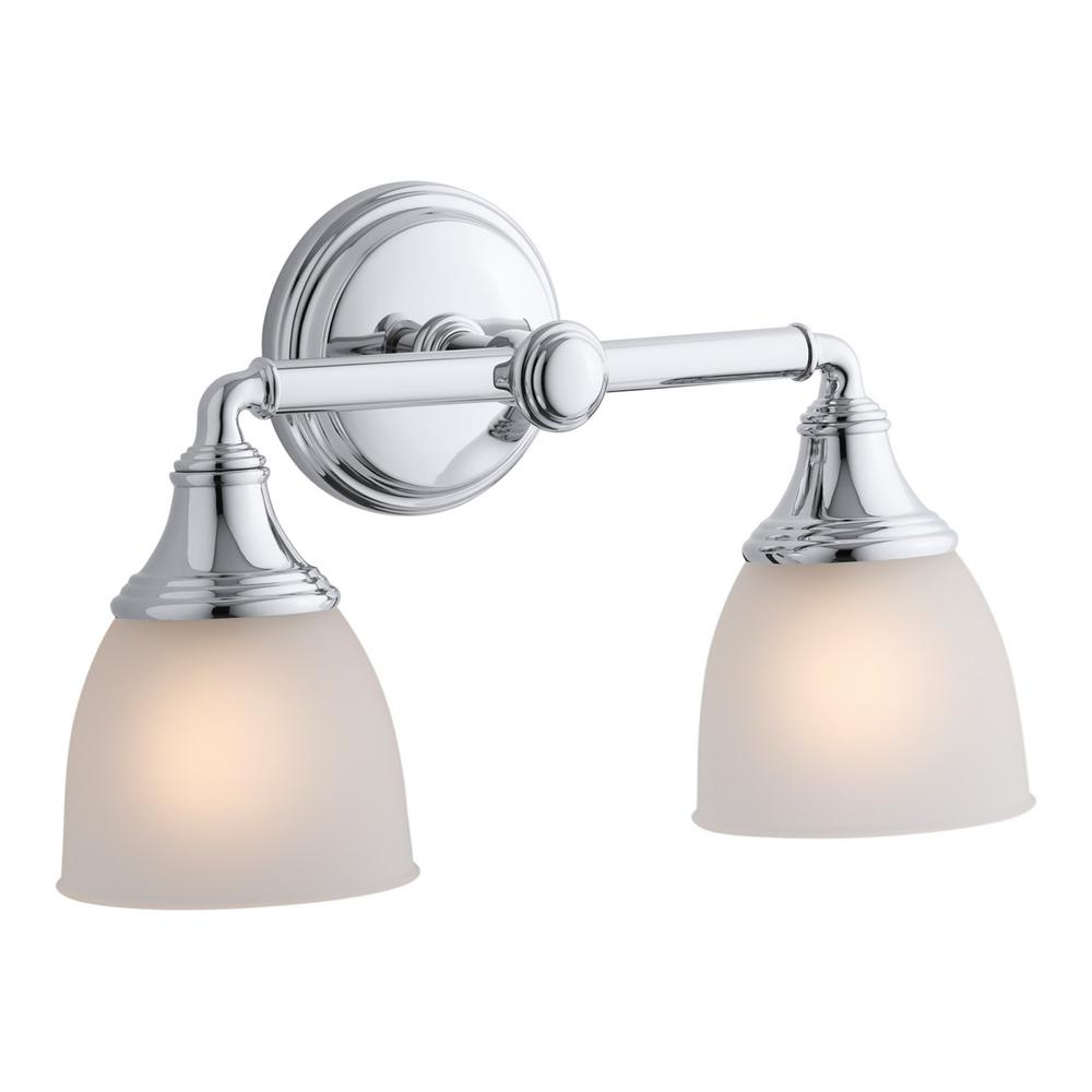 KOHLER Devonshire 2 Light Polished Chrome Wall Sconce