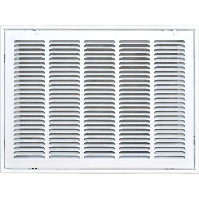 20 in. x 14 in. Return Air Vent Filter Grille, White with Fixed Blades