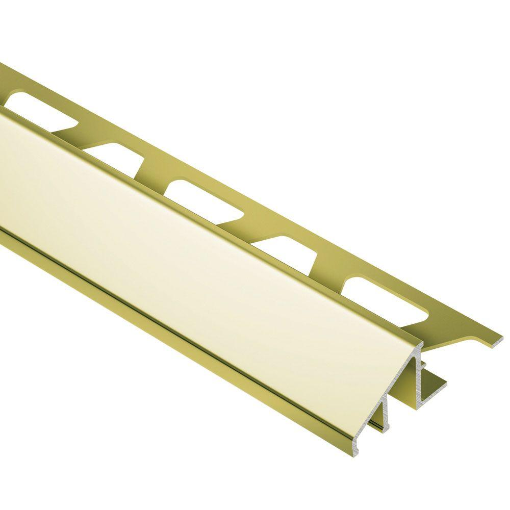 Reno-U Bright Brass Anodized Aluminum 1/2 in. x 8 ft. 2-1/2