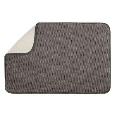 iDry 24 in. x 18 in. X-Large Kitchen Mat in Mocha/Ivory