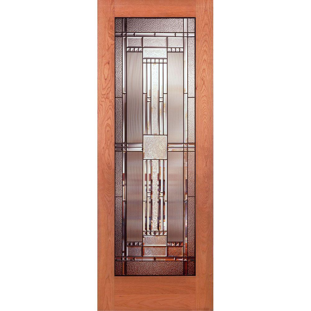Feather river doors 32 in x 80 in 1 lite unfinished cherry preston patina woodgrain interior 32 inch interior french doors