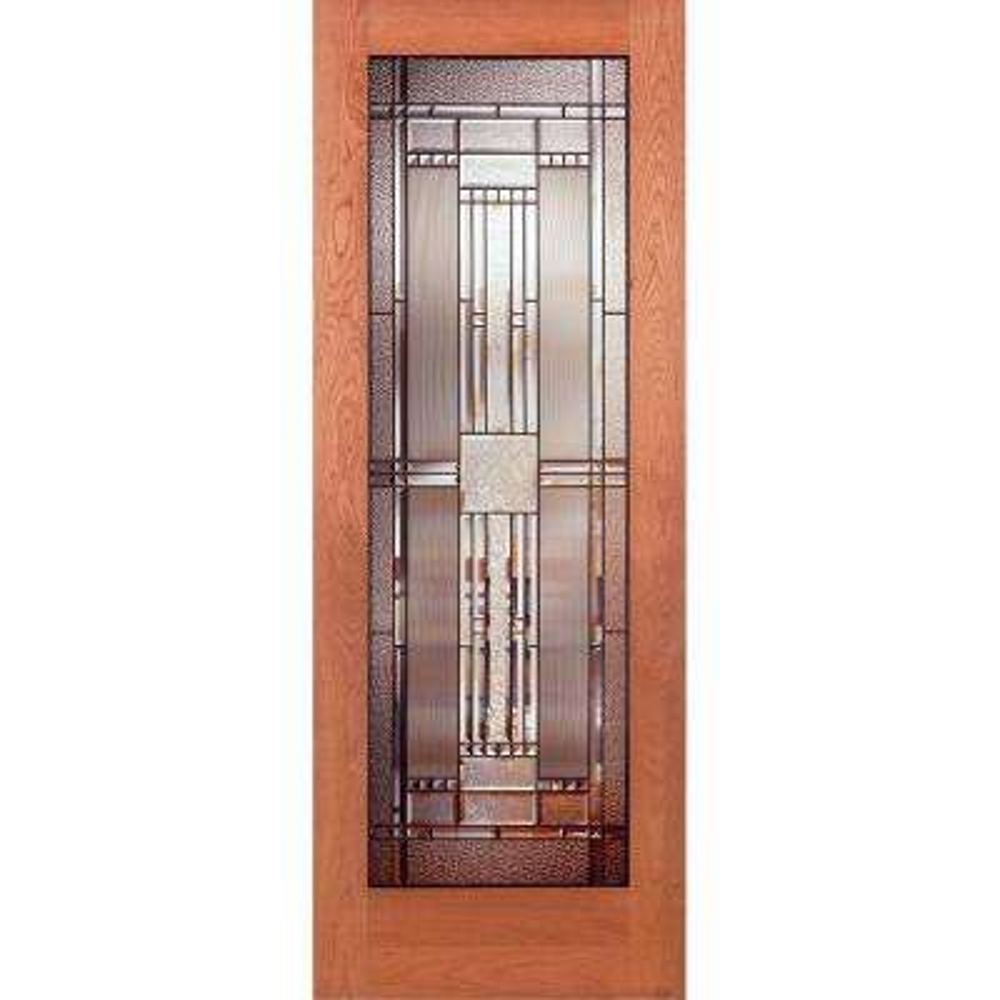 Preston Patina Woodgrain 1 Lite Unfinished Cherry Interior Door Slab