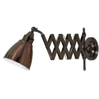 Floren Copper Bronze Swing Arm Wall Light