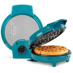 Click here to buy HOLSTEIN HOUSEWARES Non-Stick Waffle Maker Teal by HOLSTEIN HOUSEWARES.