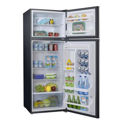 12.0 cu. ft. Top Freezer Retro Refrigerator with Dual Door True Freezer, Frost Free in Black