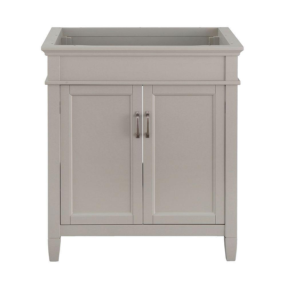 Ashburn 30 in. W x 21.63 in. D Vanity Cabinet in Grey