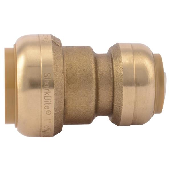 1 in. x 3/4 in. Brass Push-to-Connect Reducing Coupling