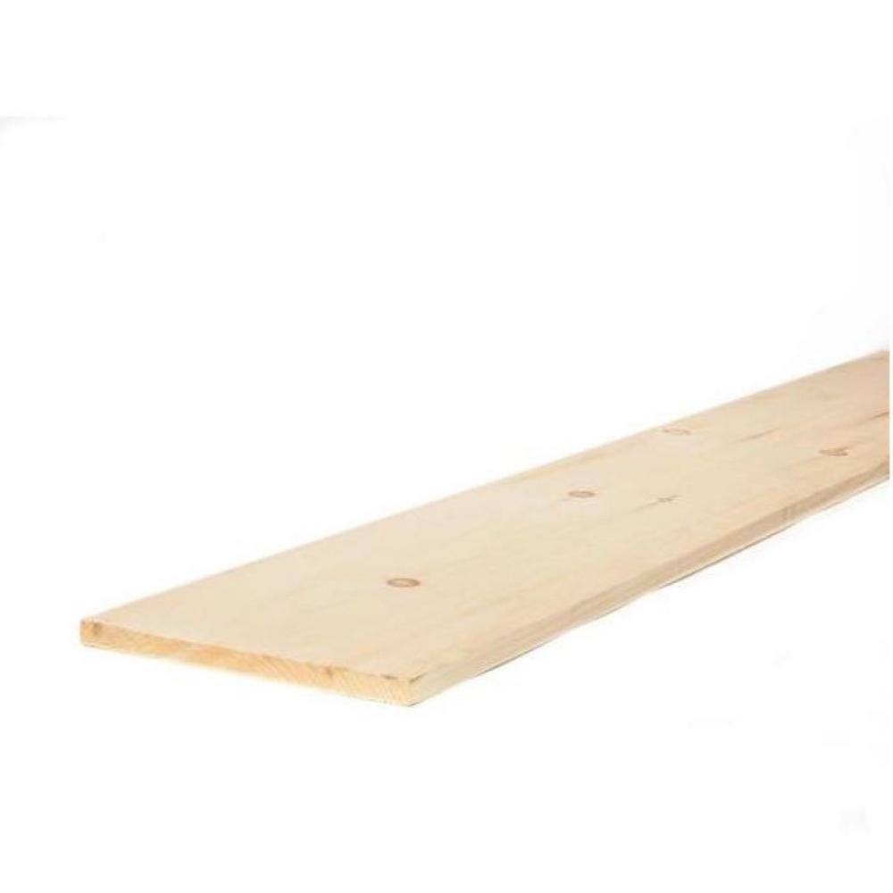 1 in. x 12 in. x 12 ft. Premium Kiln-Dried Square Edge Whitewood Common Board