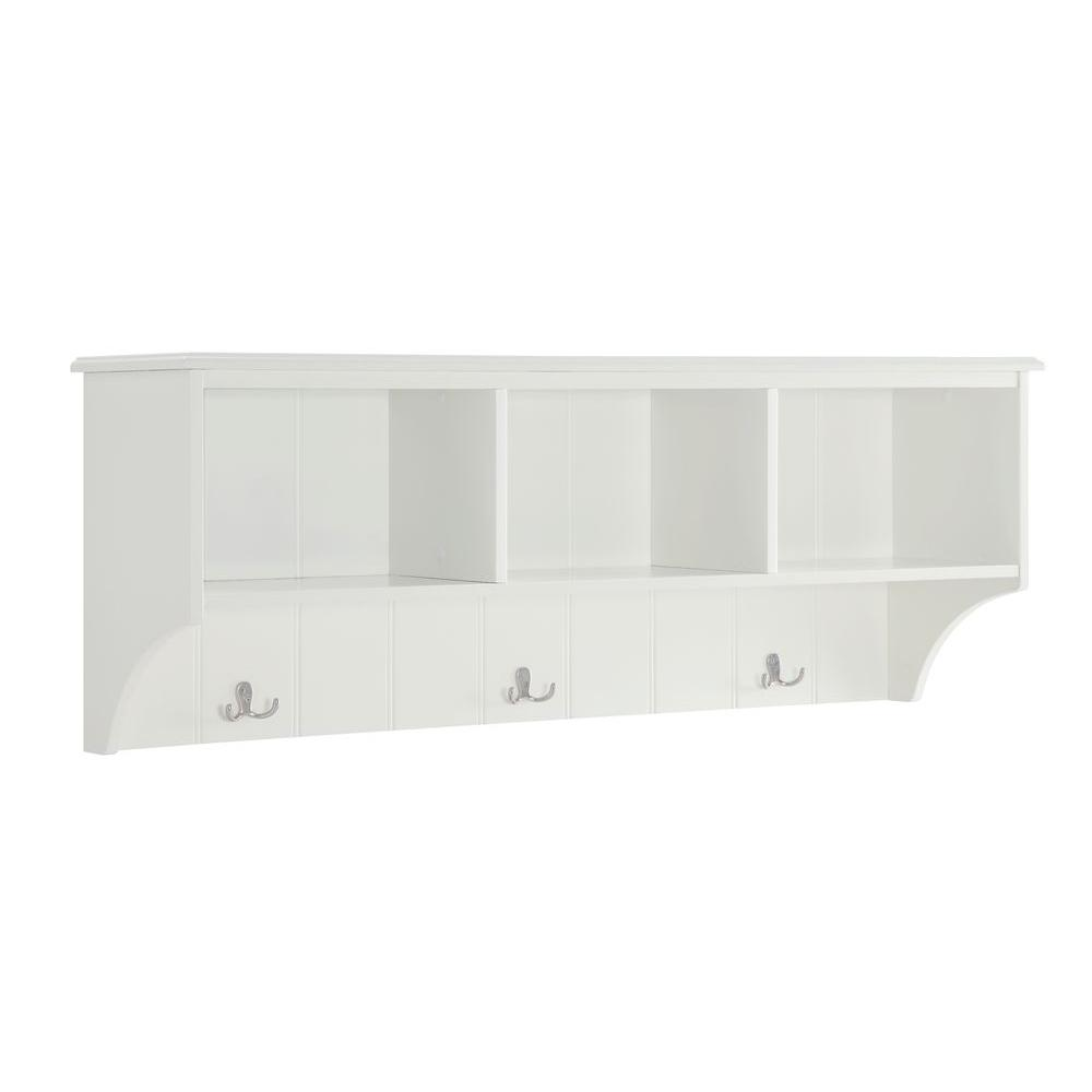 Home Decorators Collection Amelia White Hall Tree Sk18491 The Home Depot