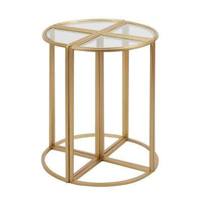 Nicholas Gold Accent Tables (Set of 4)