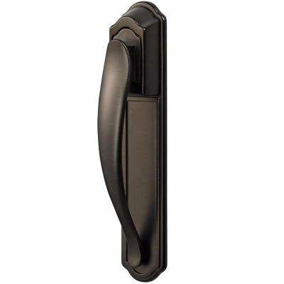 Oil-Rubbed Bronze Storm and Screen Door Pull Handle Set with Back Plate