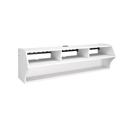Altus 58 in. White Composite Floating Entertainment Center Fits TVs Up to 60 in. with Wall Mount Feature
