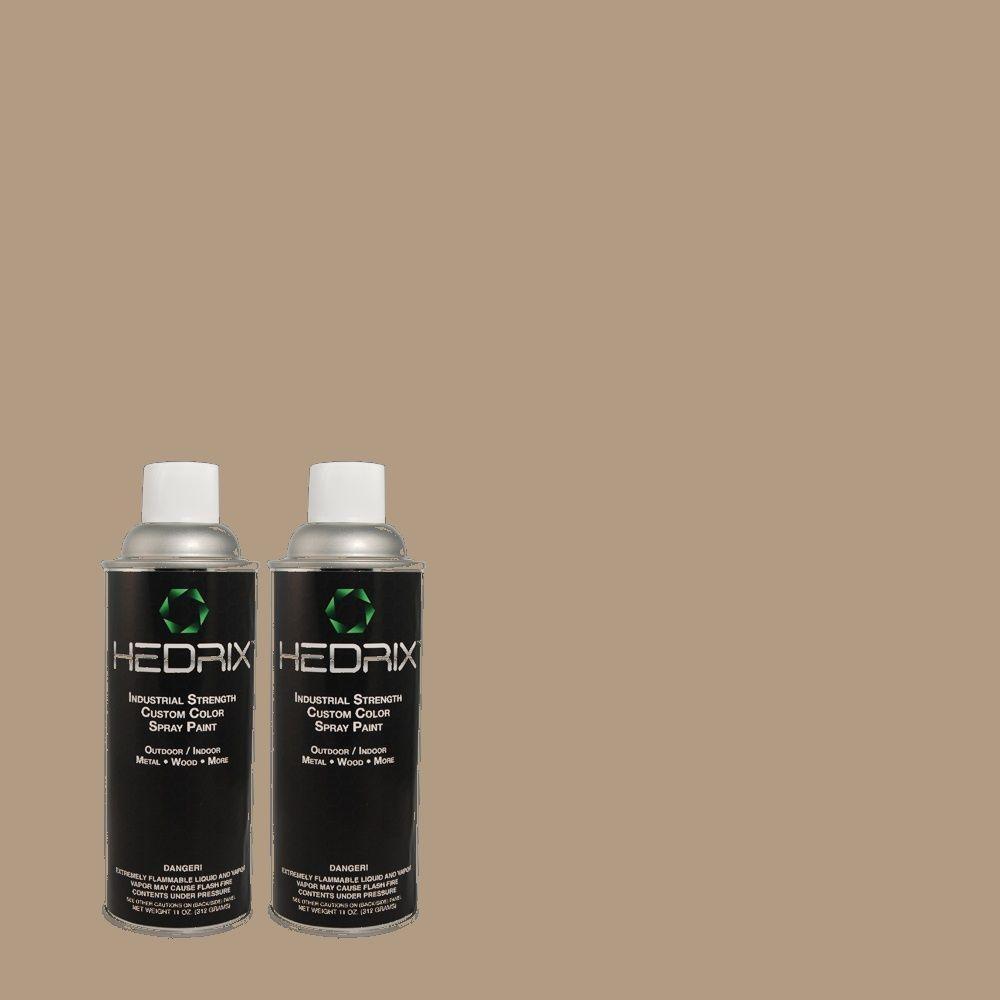 Hedrix 11 oz. Match of PPU5-7 Studio Taupe Semi-Gloss Custom Spray Paint (8-Pack)