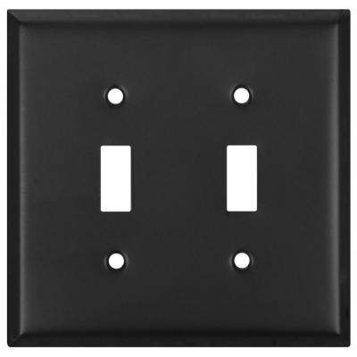 2 Toggle Wall Plate - Oil Rubbed Bronze