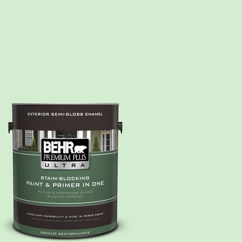 BEHR Premium Plus Ultra 1-gal. #450A-2 Kiwi Squeeze Semi-Gloss Enamel Exterior Paint