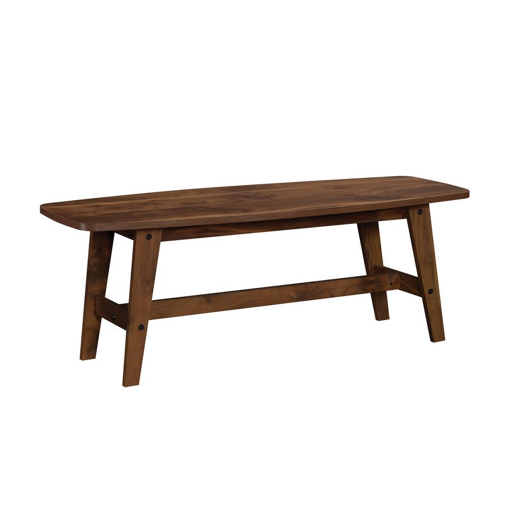 Harvey Park 17 in. Grand Walnut Engineered Wood Coffee Table