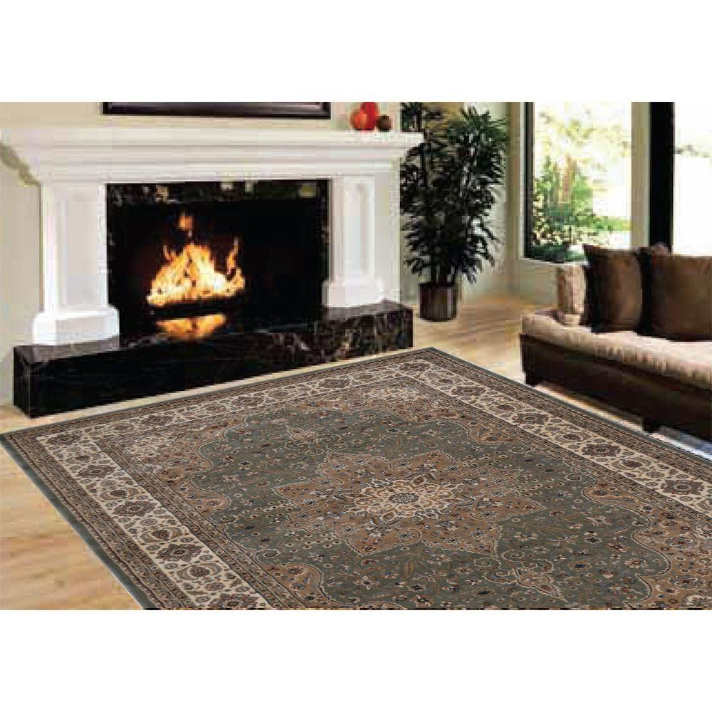 Home Dynamix Majestic Green 5 Ft X 8 Ft Area Rug 2 H1128a 400
