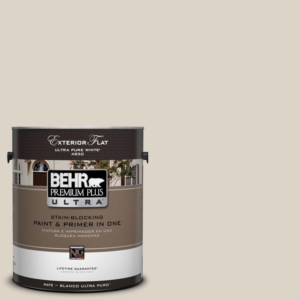 1-Gal. #UL170-14 Canvas Tan Flat Exterior Paint