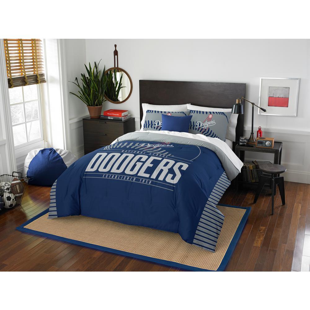 Click here to buy  Dodgers 3-Piece GrandSlam Multi Full and Queen Comforter Set.