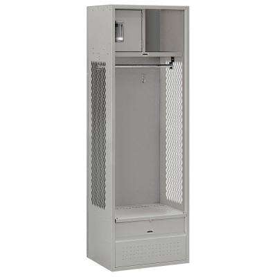 70000 Series 24 in. W x 78 in. H x 18 in. D - Open Access Metal Locker Unassembled in Gray