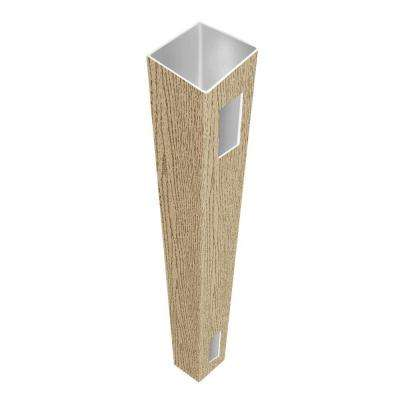 5 in. x 5 in. x 9 ft. Birchwood Vinyl Pre-Routed Fence End/Gate Post