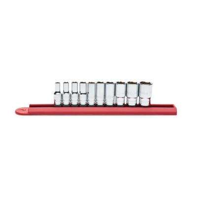 1/4 in. Drive SAE Mid Length Socket Set (10-Piece)